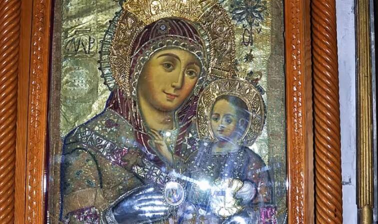 Богородица и Иисус. Икона