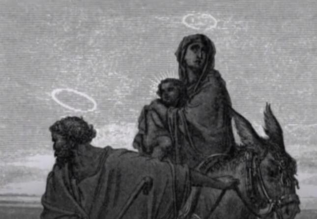 Иосиф, Матрия и маленький Иисус.