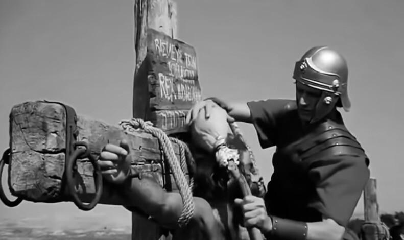На фото изображена губка, которую используют, чтобы напоить распятых на кресте.