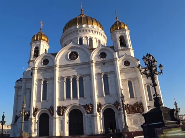 Храм Христа спасителя. Центральный вход.
