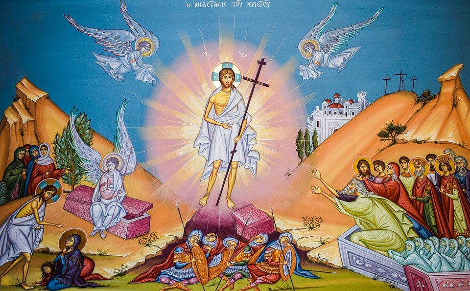 На фото изображен Иисус Христос воскресший.