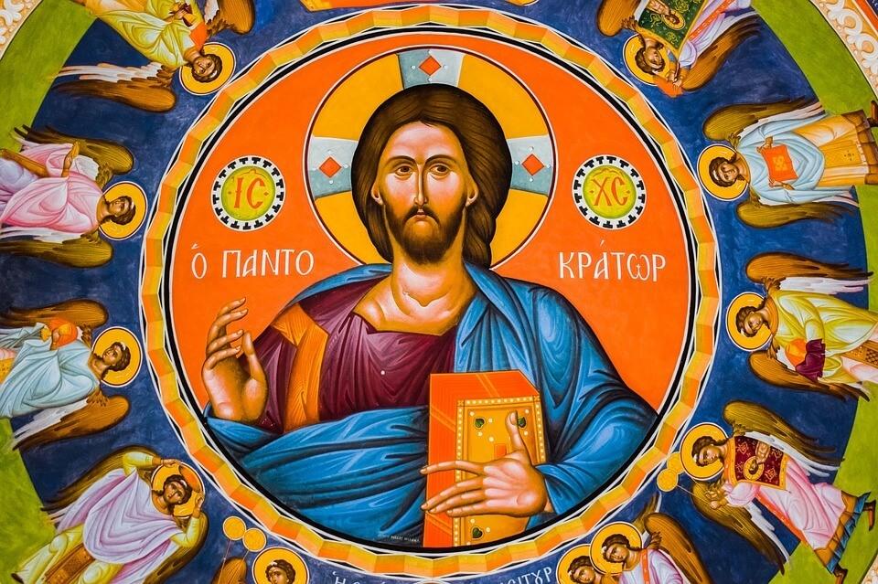 На фото изображена икона Иисуса Христа Вседержителя.