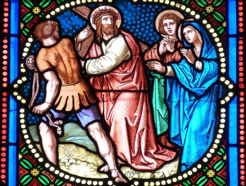 На фото изображен крестный путь Иисуса Христа.