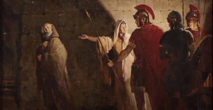 На фото изображено отречение апостола Петра.