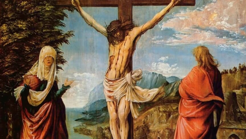 На фото распятие Христа.