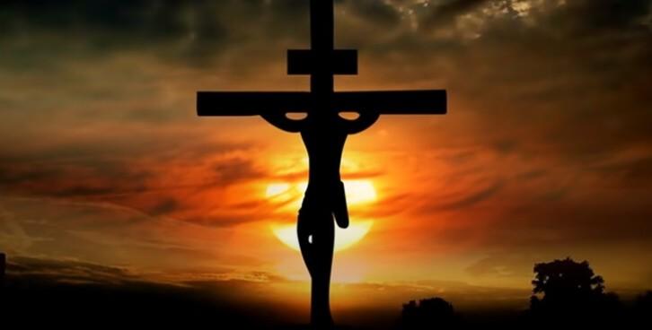 Иисус на кресте.