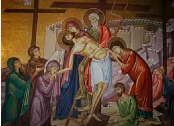 Снятие тела Иисуса с креста.