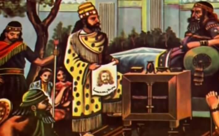 На фото изображена икона Спас Нерукотворный.