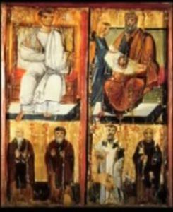 Икона Спас Нерукотворный. Ткань (плат).