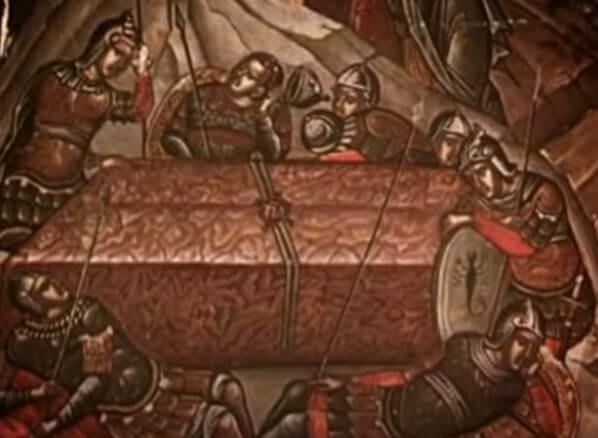 Войско, охраняющее пещеру, где лежало тело Иисуса Христа.