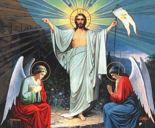 На фото изображено воскресение Ииисуса.