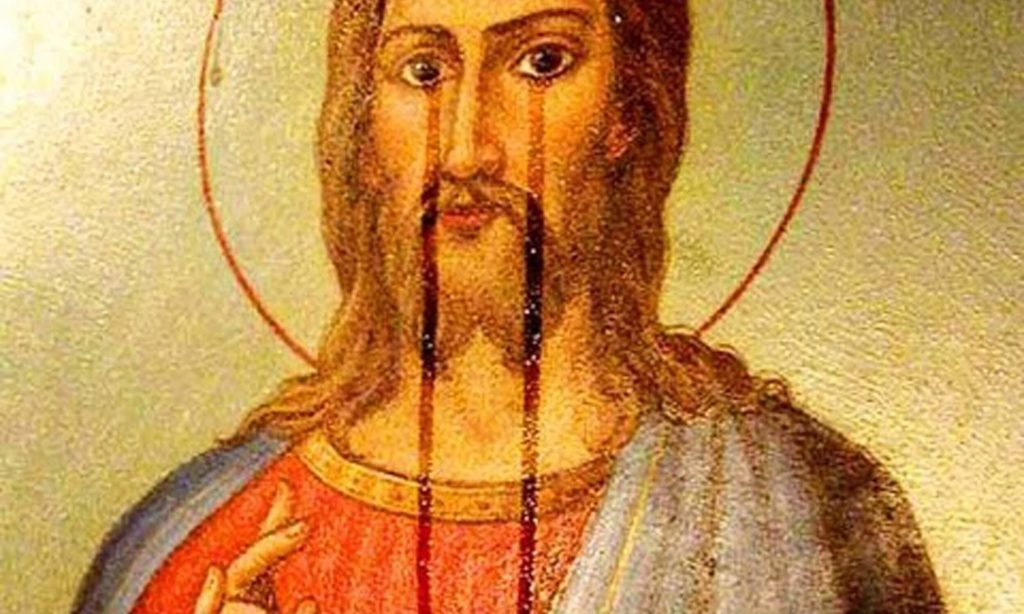 Мироточение иконы Иисуса Христа.