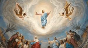 На фото изображено вознесение Иисуса Христа.
