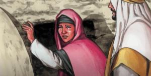 На фото изображено как Иисус Христос явился после воскресения Марии Магдалине.